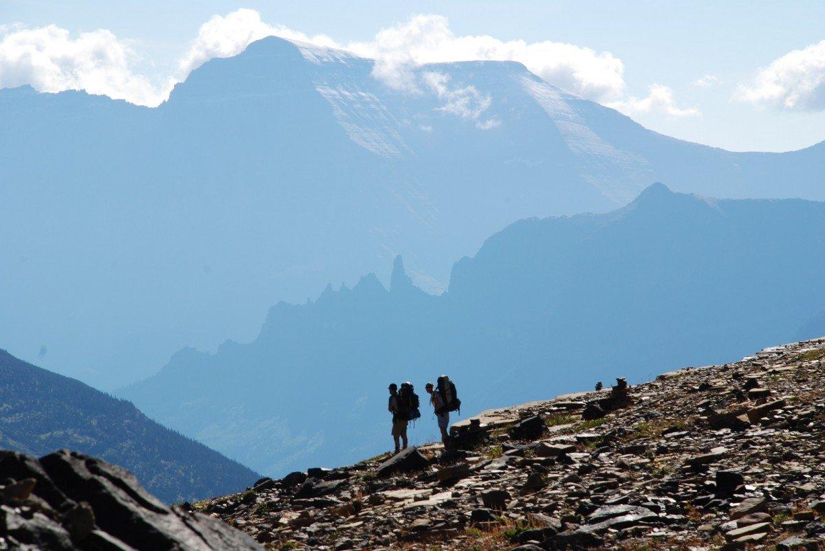 tourists on the mountain
