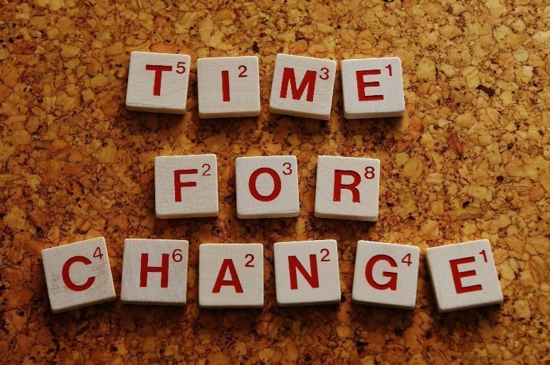 """""""Time for change"""" board"""