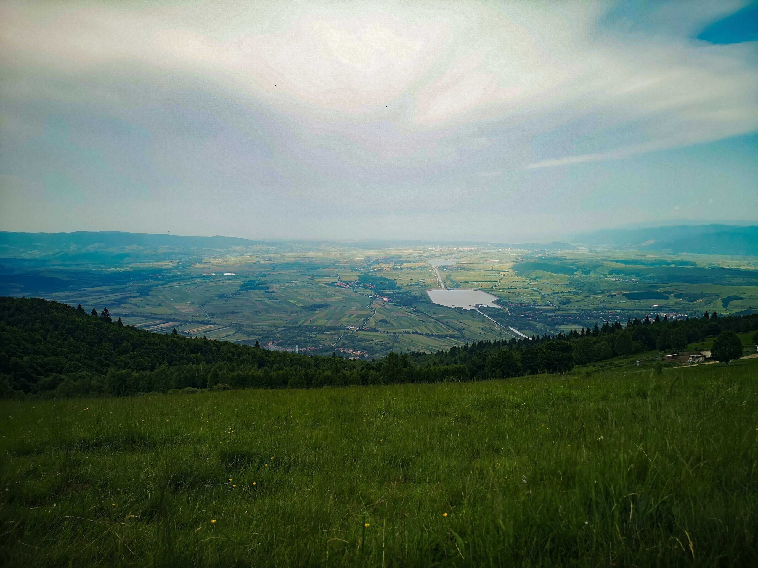The Ostrov reservoir - view from the paragliding takeoff point