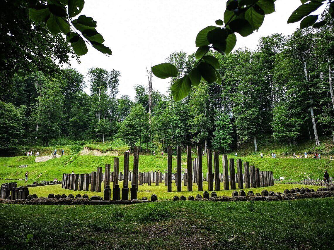 old Dacian Temple in Transylvania